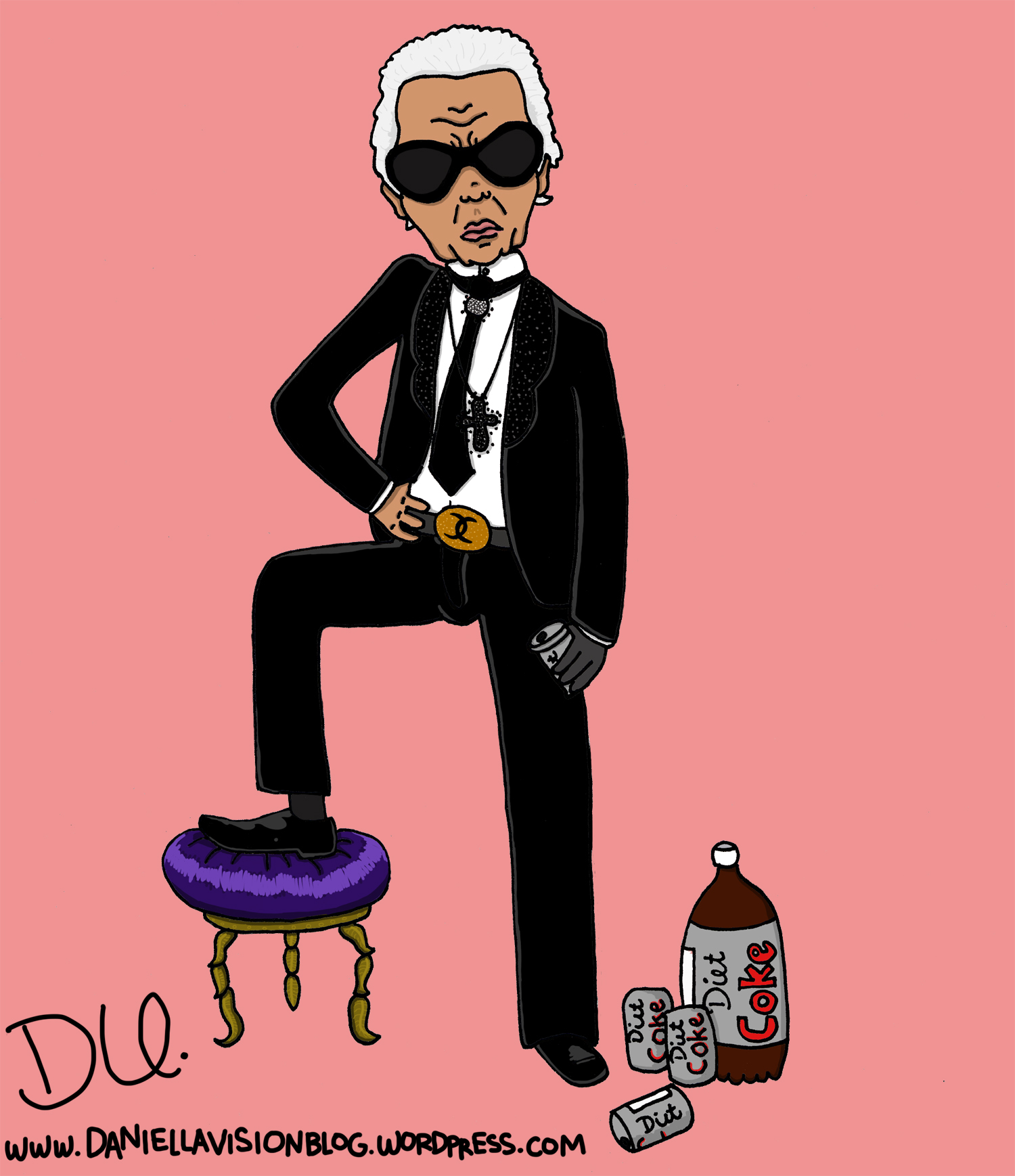 Karl Lagerfeld Drawings And Candy